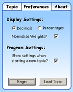 Settings Window - Preferences Tab